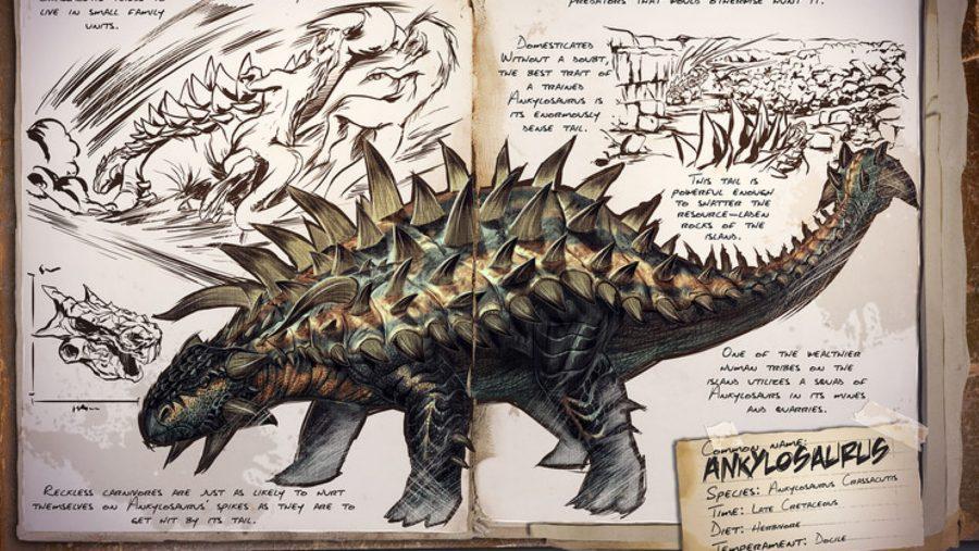 ark dinosaurs ankylosaurus