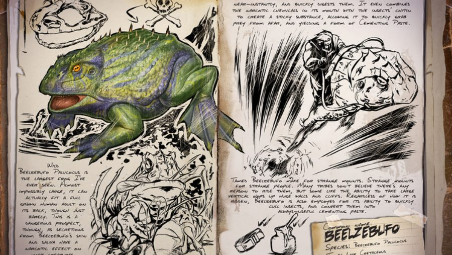 ark dinosaurs beelzebufo