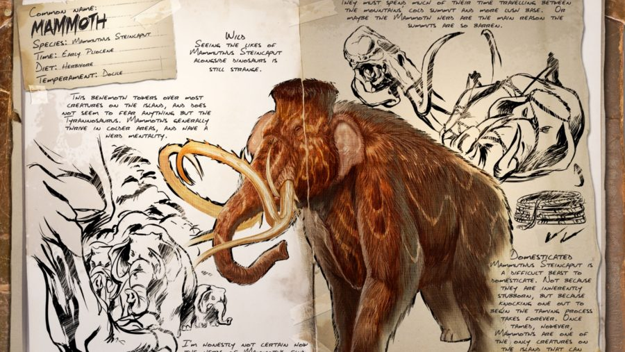ark dinosaurs mammoth