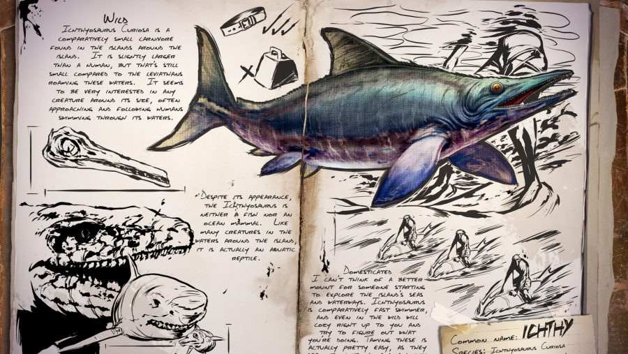 ark dinosaurs taming ichthyosaurus