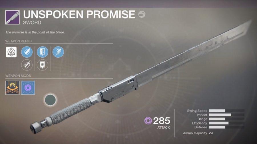 destiny 2 pvp weapons unspoken promise