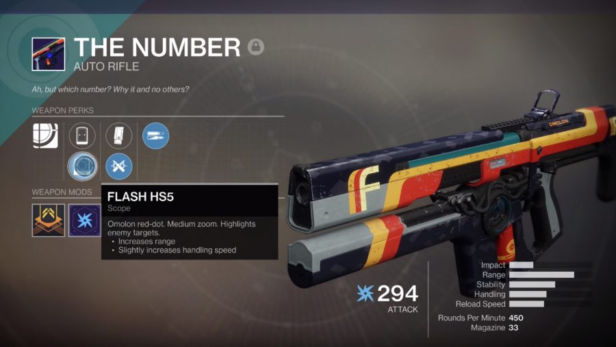 destiny pvp weapons the number