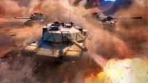 War Thunder Advancing Storm tank firing