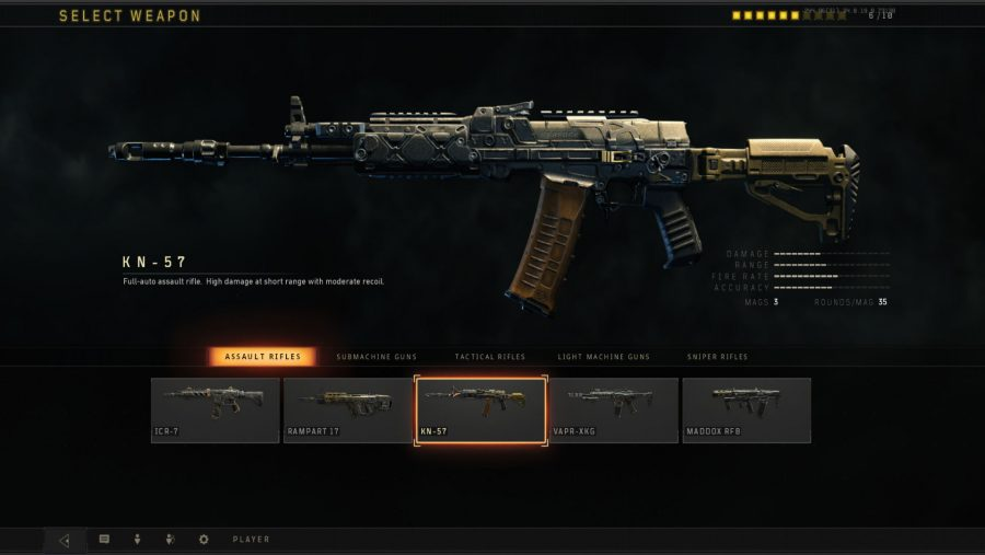 Blackout weapons - KN 57