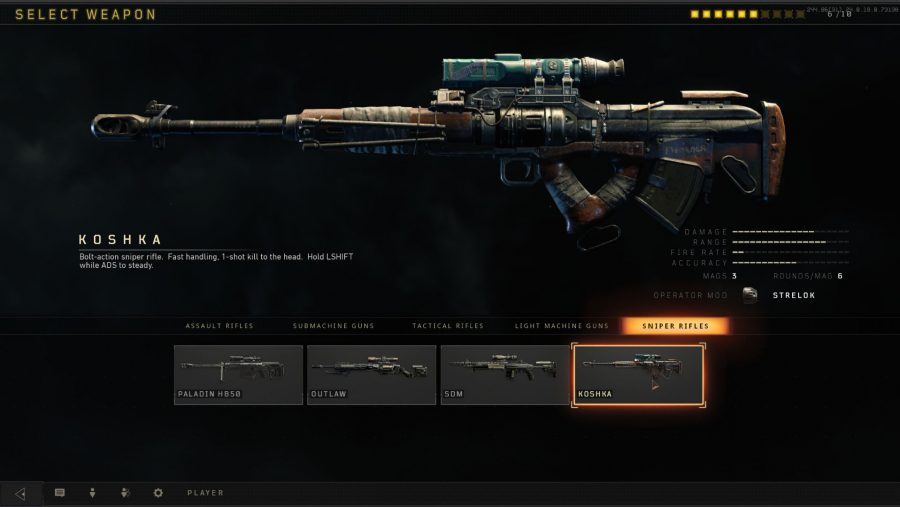 Blackout weapons - Koshka