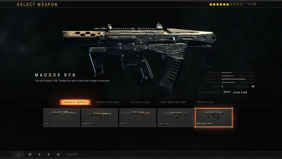 Black Ops 4 weapons - Maddox RFB