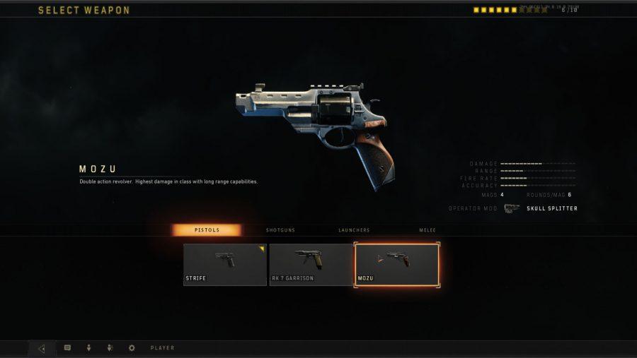 Black Ops 4 weapons - Mozu