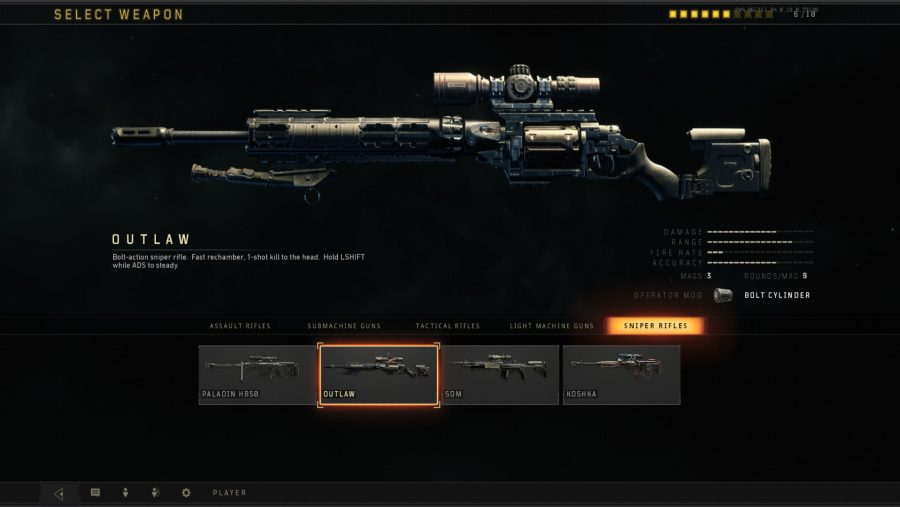 Black Ops 4 weapons - Outlaw