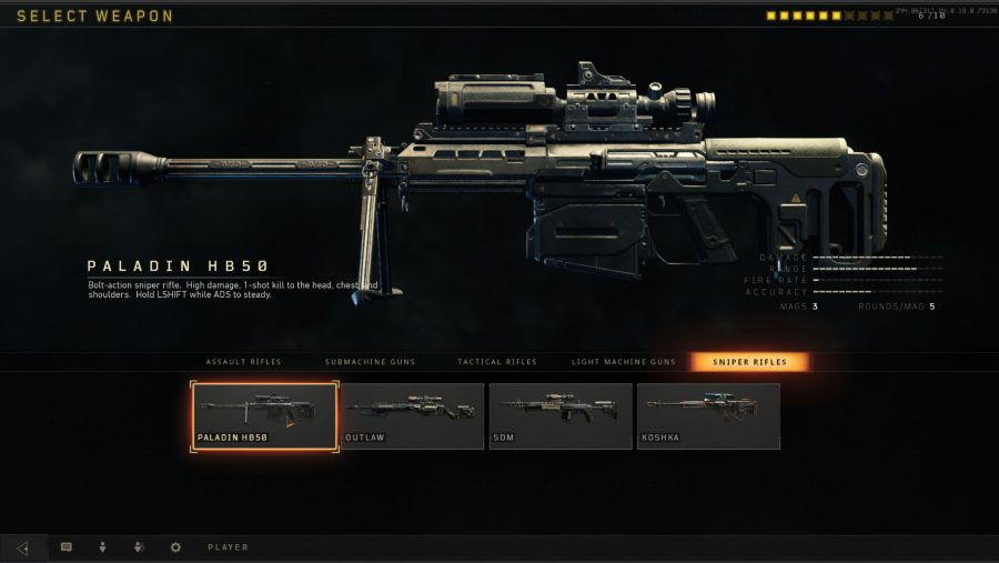 Black Ops 4 weapons - Paladin HB50