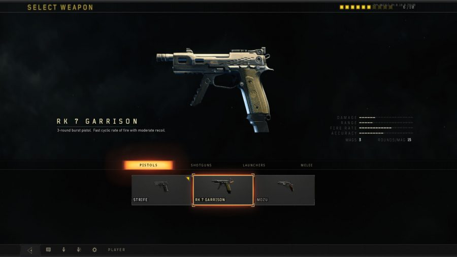 Blackout weapons - RK7 Garrison