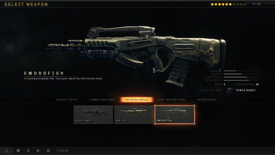 Black Ops 4 weapons - Swordfish