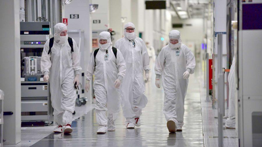 Intel fab floor