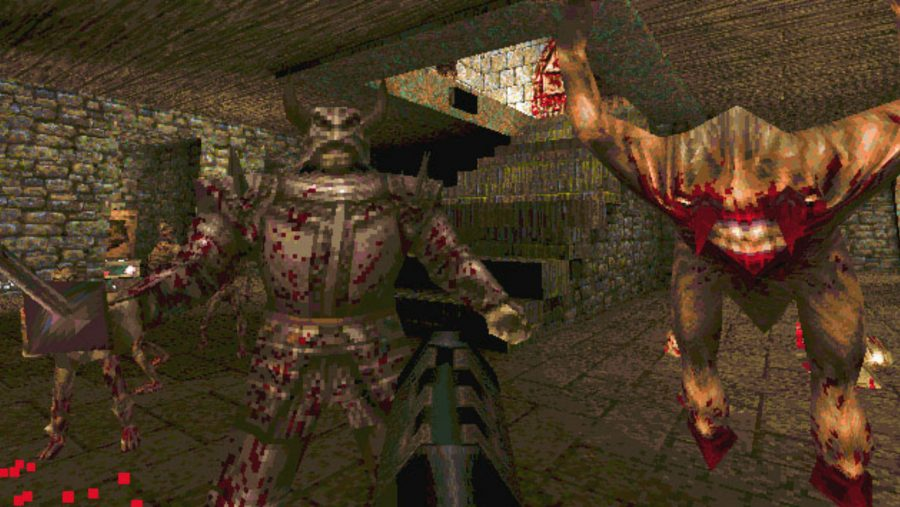 The threats close in in Quake, one of the best old games