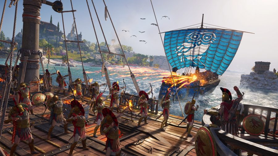 Assassin's Creed Odyssey ship attack