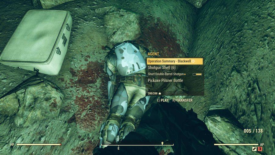 Fallout 76 nukes Dead Enclave Agent