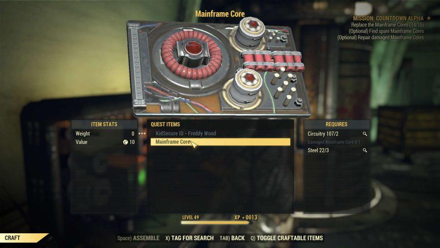 Fallout 76 nukes mainframe cores