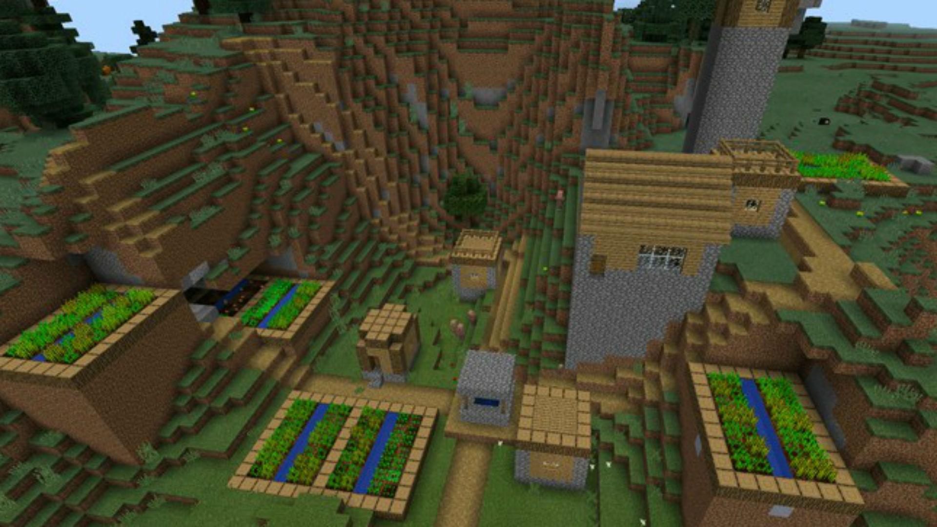 Minecraft PE Mountain Village - Minecraft Seed HQ