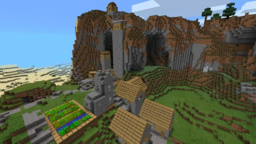a village seed for minecraft pe