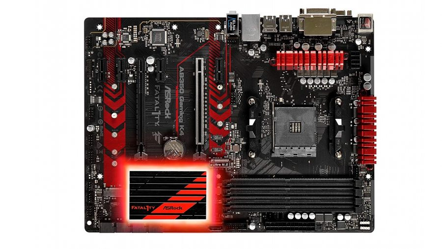 Best cheap AMD gaming motherboard runner-up - ASRock AB350 Gaming K4