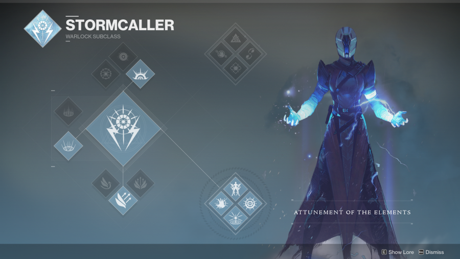 Destiny 2 Warlock Stormcaller class tree