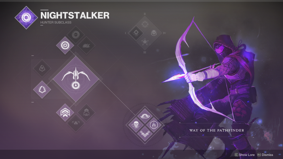 Destiny 2 Hunter Nightstalker class tree