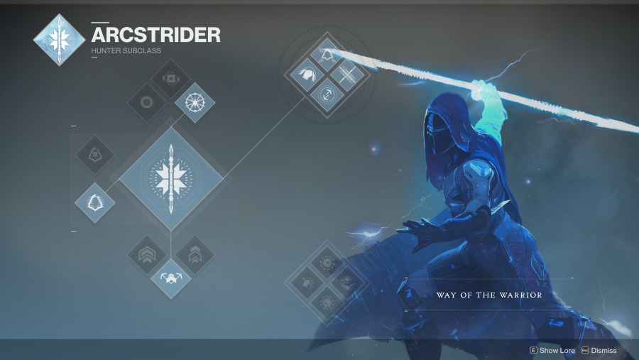 Destiny 2 Hunter Arcstrider class tree