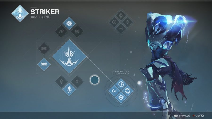 Destiny 2 Titan Striker class tree