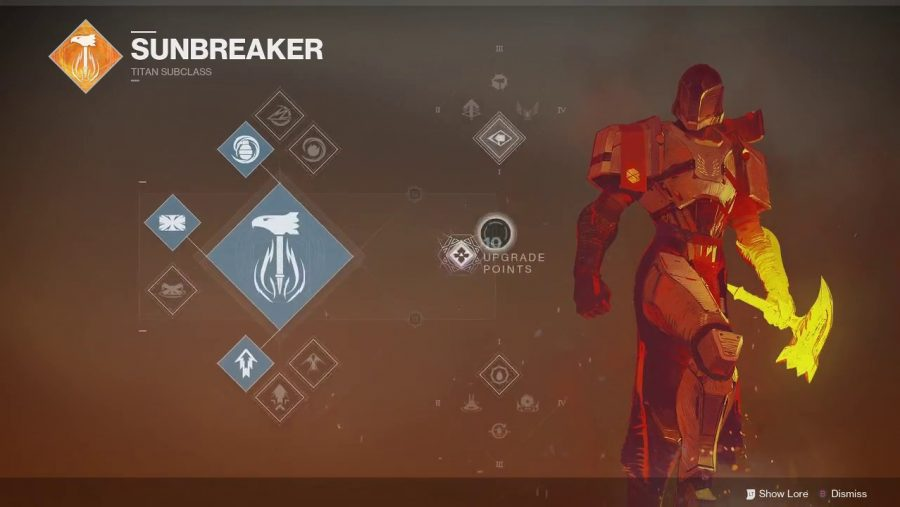 Destiny 2 Titan Sunbreaker class tree