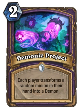 Hearthstone Boomsday Project - Demonic Project