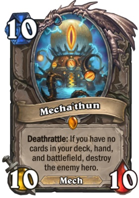 Hearthstone Boomsday Project - Mechathun