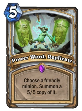 Hearthstone Boomsday Project - Power Word Replicate