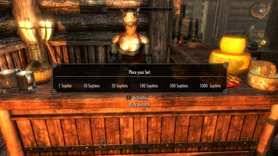 Skyrim mods - Hazard Gambling