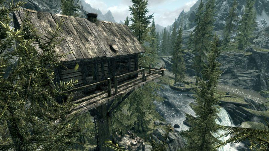 Skyrim mods - Hermit tree house