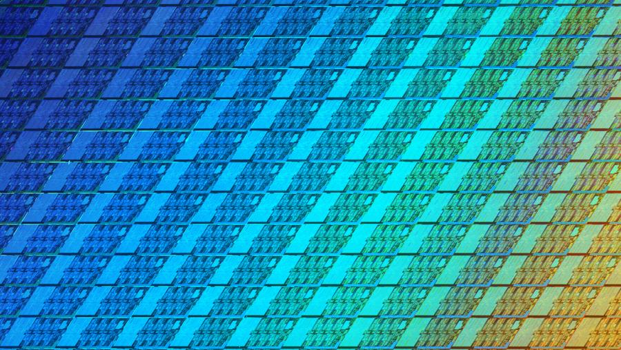 Intel Coffee Lake wafer