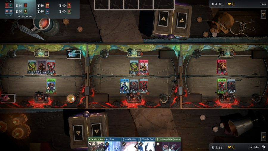 Artifact boards lanes