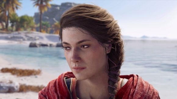 Kassandra's totes sad she can't get Assassin's Creed Odyssey free in Cuba...