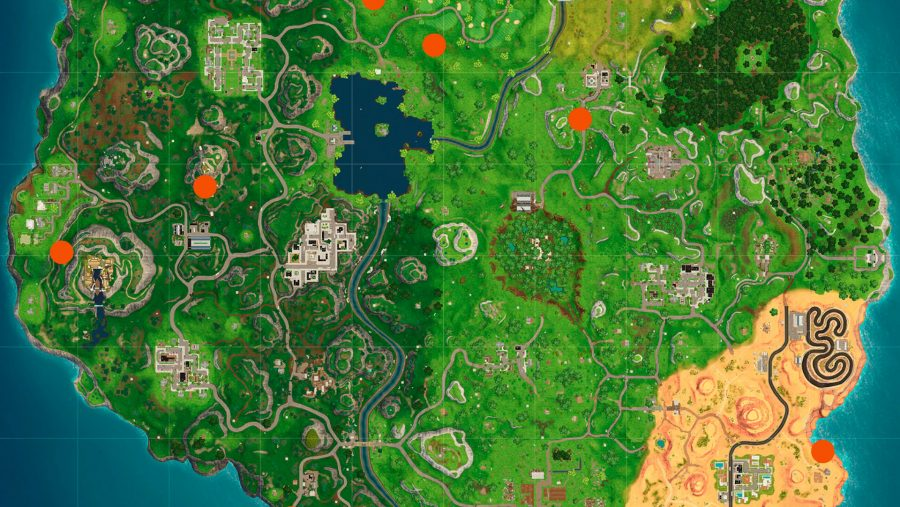 Fortnite Flaming Hoops locations map