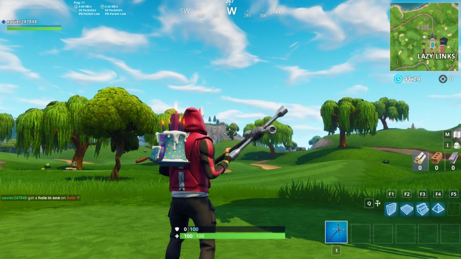 Fortnite hit a golf ball from tee to green on different holes - 1
