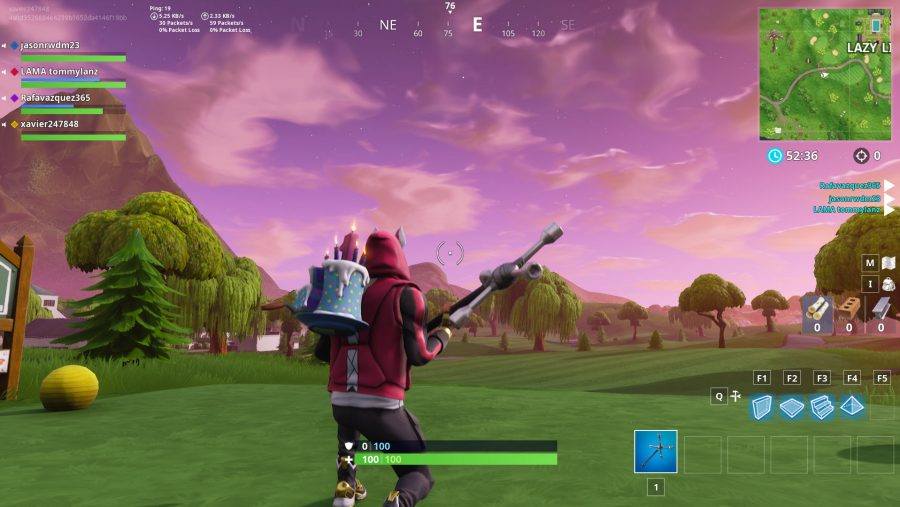 Fortnite hit a golf ball from tee to green on different holes - 4