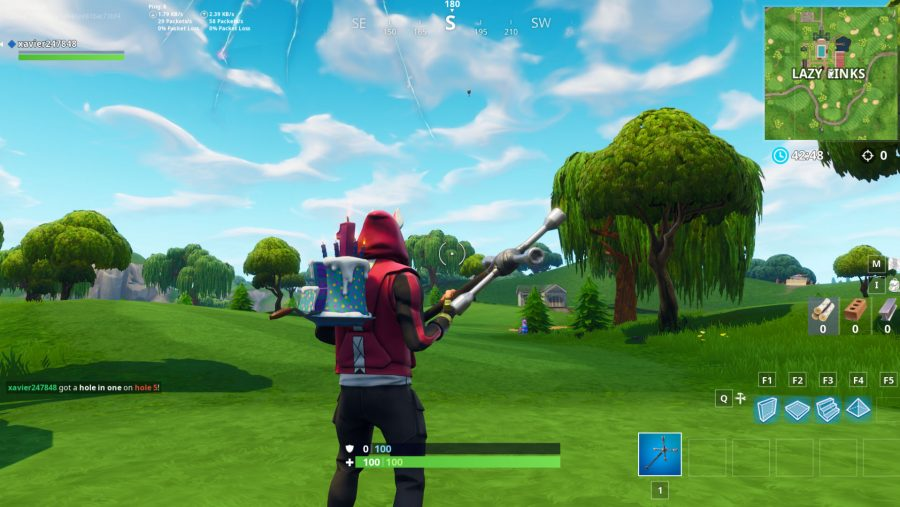 Fortnite hit a golf ball from tee to green on different holes - 5