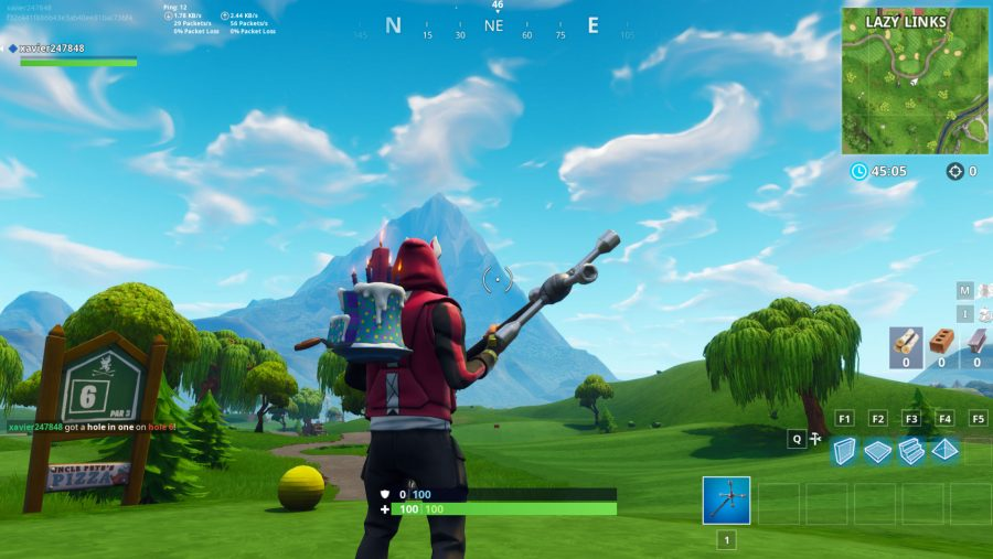 Fortnite hit a golf ball from tee to green on different holes - 6