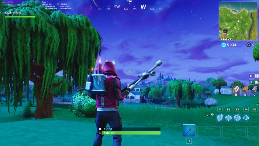 Fortnite hit a golf ball from tee to green on different holes - 9