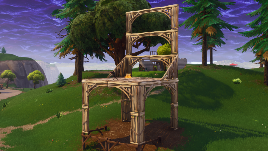 Fortnite search between three oversized seats location