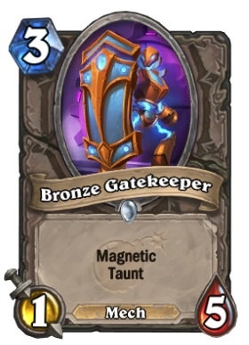 Hearthstone Boomsday Project - Bronze Gatekeeper