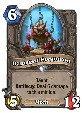 Hearthstone Boomsday Project - Damaged Stegotron
