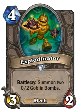 Hearthstone Boomsday Project - Explodinator