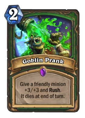 Hearthstone Boomsday Project - Goblin Prank
