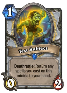 Hearthstone Boomsday Project - Test Subject