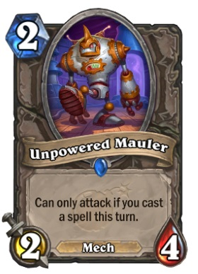 Hearthstone Boomsday Project - Unpowered Mauler