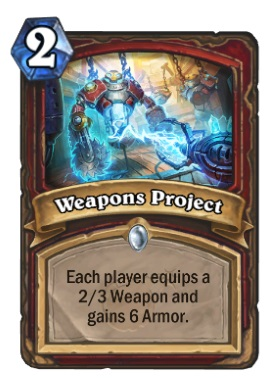 Hearthstone Boomsday Project - Weapons Project